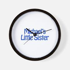 Michael's Little Sister Wall Clock