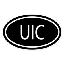 UIC Oval Decal