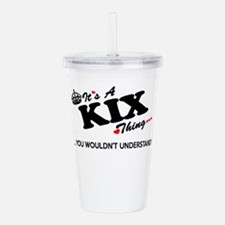 Unique Kix Acrylic Double-wall Tumbler