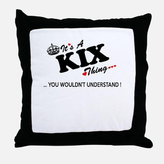 Cool Kix Throw Pillow