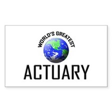 World's Greatest ACTUARY Rectangle Decal