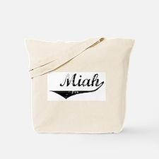 Miah Vintage (Black) Tote Bag