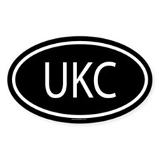 UKC Oval Decal
