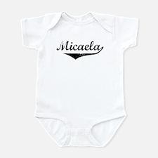 Micaela Vintage (Black) Infant Bodysuit