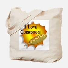 I Love Corndogs! Tote Bag