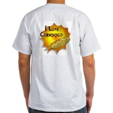 I Love Corndogs! Ash Grey T-Shirt