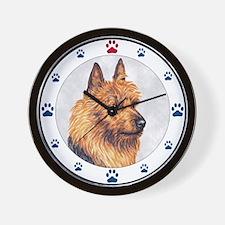 Australian Terrier Dog Paws Wall Clock