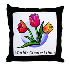 Greatest Oma Throw Pillow