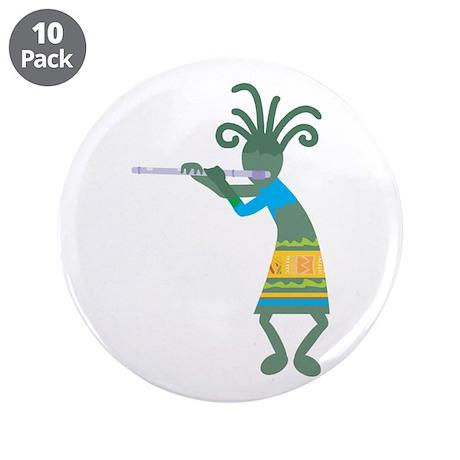 """Kokopelli 11 3.5"""" Button (10 pack)"""