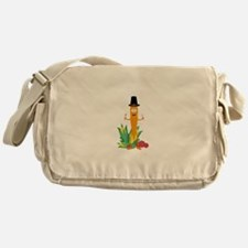 Thanksgiving Carrot with Vegetables Messenger Bag