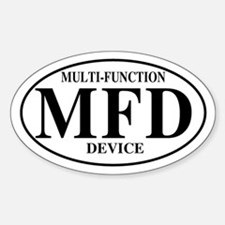 Multi Function Device Oval Decal