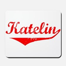 Katelin Vintage (Red) Mousepad