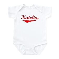 Katelin Vintage (Red) Infant Bodysuit