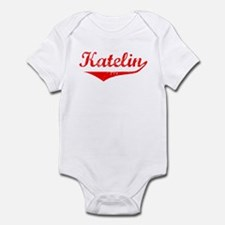 Katelin Vintage (Red) Infant Bodysuit