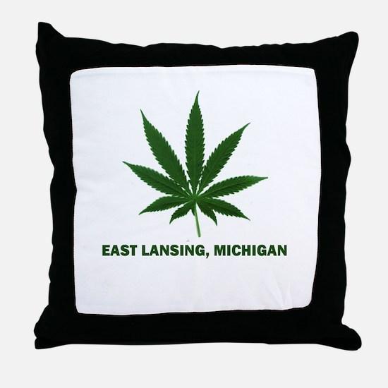East Lansing, Michigan Throw Pillow
