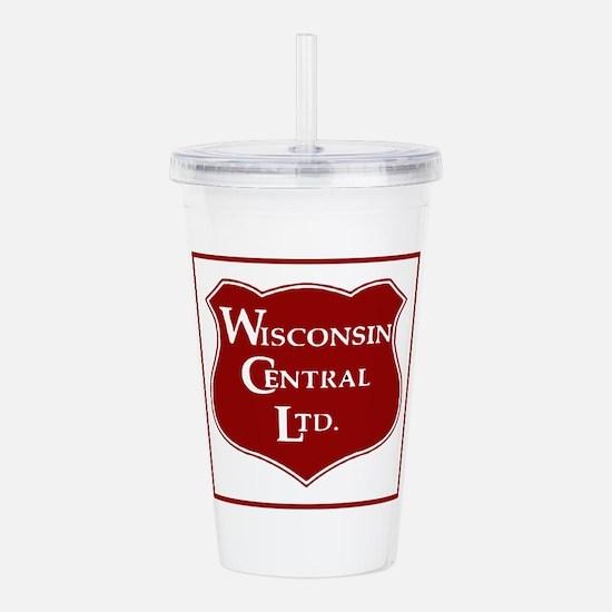 Wisconsin Central Rail Acrylic Double-wall Tumbler