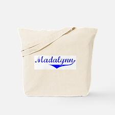 Madalynn Vintage (Blue) Tote Bag