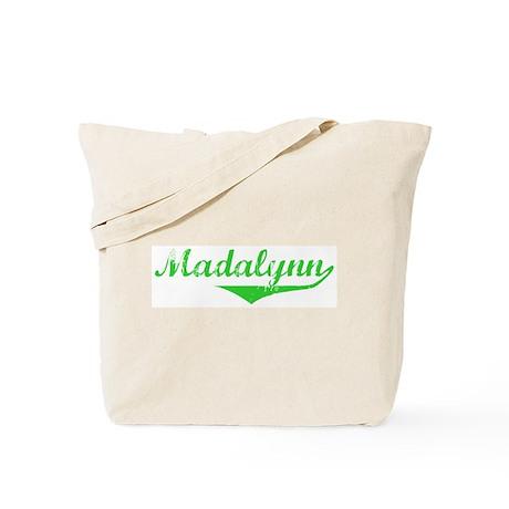 Madalynn Vintage (Green) Tote Bag