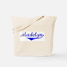 Madelyn Vintage (Blue) Tote Bag