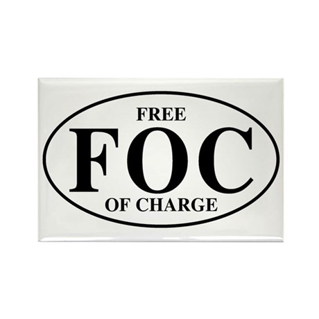 Free Of Charge Rectangle Magnet (10 pack)