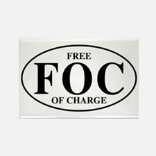 Free Of Charge Rectangle Magnet (100 pack)