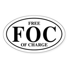 Free Of Charge Oval Decal