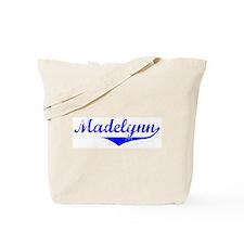 Madelynn Vintage (Blue) Tote Bag