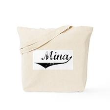 Mina Vintage (Black) Tote Bag