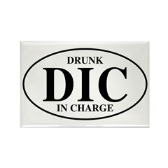 Drunk In Charge Rectangle Magnet