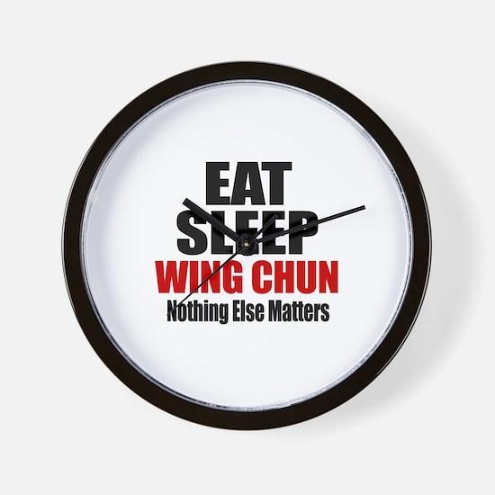 Eat Sleep Wing Chun Wall Clock