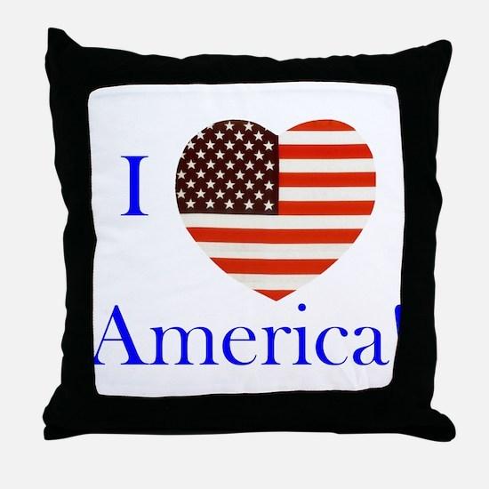I Love America! Throw Pillow