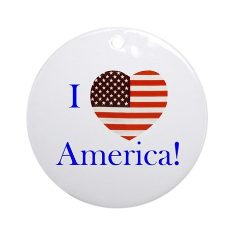 I Love America! Ornament (Round)