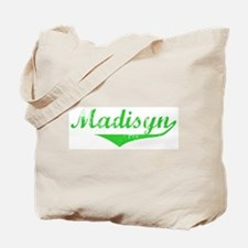 Madisyn Vintage (Green) Tote Bag