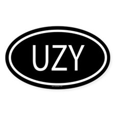 UZY Oval Decal
