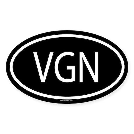 VGN Oval Sticker