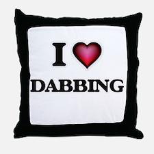 I love Dabbing Throw Pillow