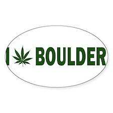 I Pot Boulder Oval Decal