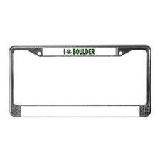 I Pot Boulder License Plate Frame