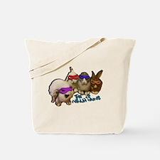 Cute Ninja bunnies Tote Bag