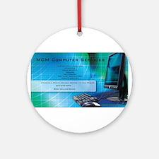 MCM Computer Services Round Ornament