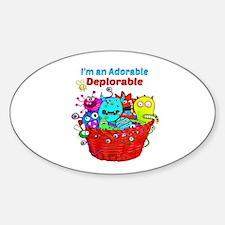 Adorable Deplorables in Trump Basket of De Decal