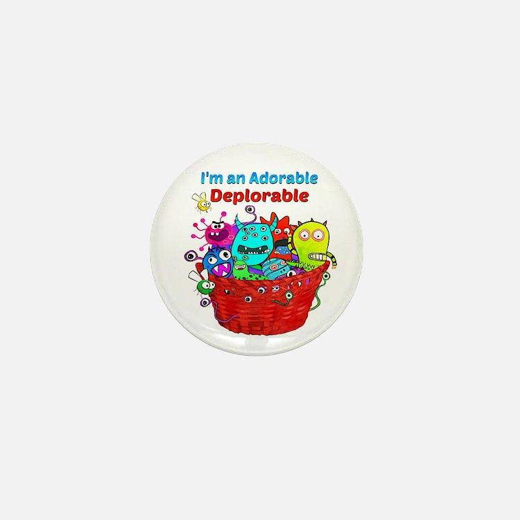 Adorable Deplorables in Trump Basket o Mini Button