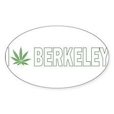 I Pot Berkeley Oval Decal