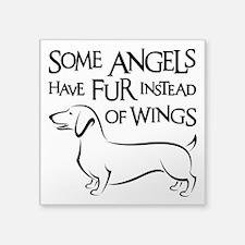 "DOXIE ANGEL Square Sticker 3"" x 3"""