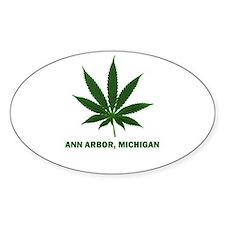 Ann Arbor, Michigan Oval Decal