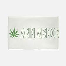 I Pot Ann Arbor Rectangle Magnet