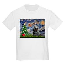 StarryXmas/black Cocker T-Shirt