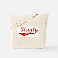Kayli Vintage (Red) Tote Bag