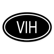 VIH Oval Decal
