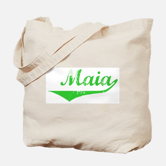 Maia Vintage (Green) Tote Bag